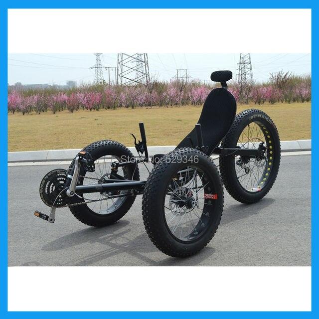 Fat Tire 3 колеса лежачие trike для взрослых