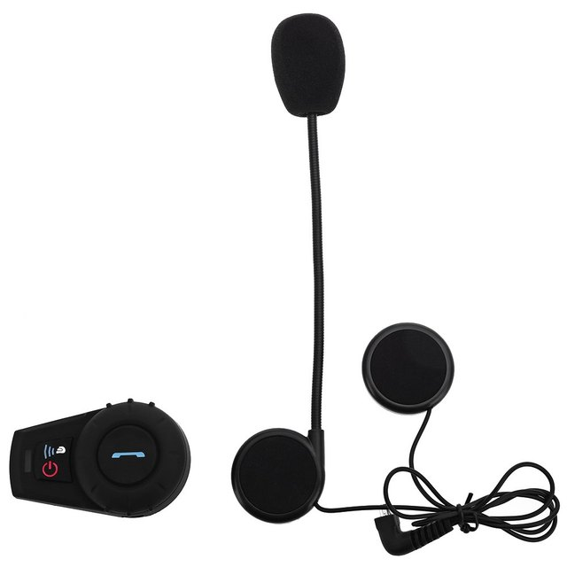 US Plug 500M Motorcycle Helmet Bluetooth Intercom Kit for Motorcyclist and Skiers Waterproof with DSP Noise Reduction Function