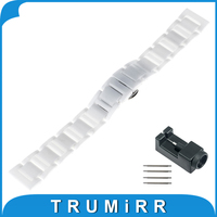 18mm 20mm Full Ceramic Watchband For Tudor Watch Band Wrist Strap Replacement Link Bracelet Upgraded Tool