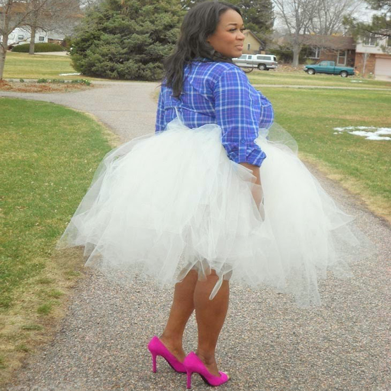 plus size tulle tutu skirts casual knee length short ball gowns