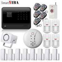 SmartYIBA SMS Call App Android IOS Control Security Alarm Smoke/Fire Alarm Panic Alert Motion Sensor Door Open Reminder Alarm