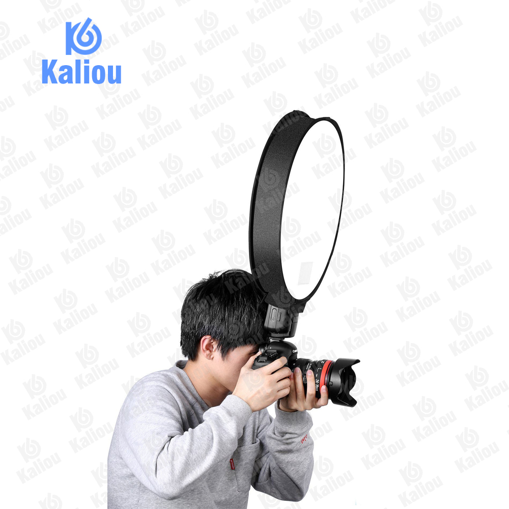 Image 5 - Kaliou 40cm Round Universal Portable Speedlight Softbox Flash Diffuser On top Soft Box for Camera-in Softbox from Consumer Electronics