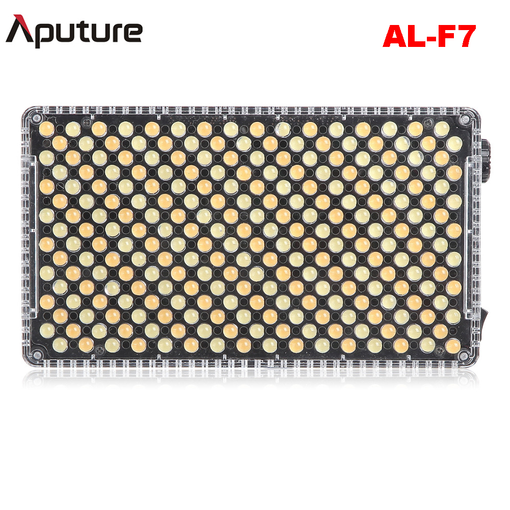 Aputure Amaran AL-F7 Bi-Color Temperature 3200-9500K CRI/TLCI 95+ 256Pcs Led Panel Stepless Adjustment On-Camera LED Video Light newest arrival sony ccd 1000tvl hd cctv camera waterproof outdoor security camera 1 3 ir 100 meter free shipping