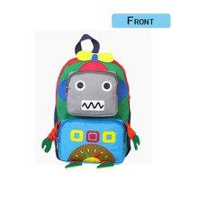 Cartoon Kindergarten Bag Children Backpack 3D Robot Model Colorful Small Kids Cute Prints Travel Bags Learning Toys