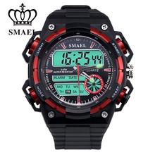 Big Dial New Sport Watches for Men Dual Time Display Wristwtch LED Digital Quartz Watch Male Clock SWaterproof Watch Gift WS1438