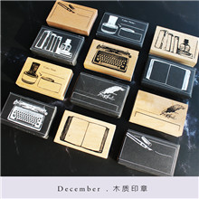 Moodtape Vintage Wood Clear Stamp For DIY Scrapbooking/photo Album Decorative Stamp Typewriter  Notes Pages Rubber Stamp Seal