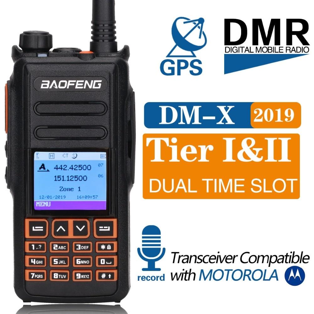 Baofeng DM X Walkie Talkie DMR Tier II VFO Digital GPS Dual Band Dual Slot 136