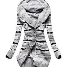 Женские толстовки, новинка, Вельветовая Толстая трикотажная куртка с капюшоном, Европейская и американская зимняя женская тонкая длинная одежда, vestidos LBD1902
