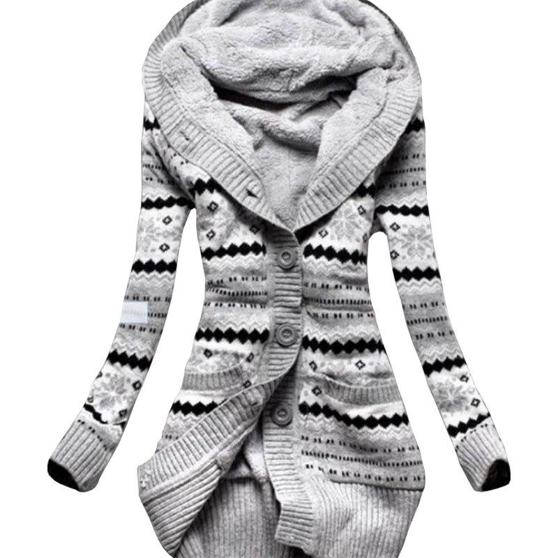 Delicious Hoodies Women 2017 Europe America Winter Women New Velvet Thick Hooded Knit Jacket Slim Long Clothing Vestidos Lbd1902 Women's Clothing