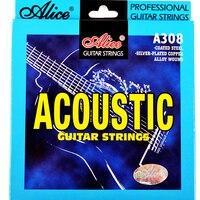 2016 חדש מחיר נמוך אליס A308 גיטרה אקוסטית מיתרים סט ליבת פלדה סופר אור סיטונאי