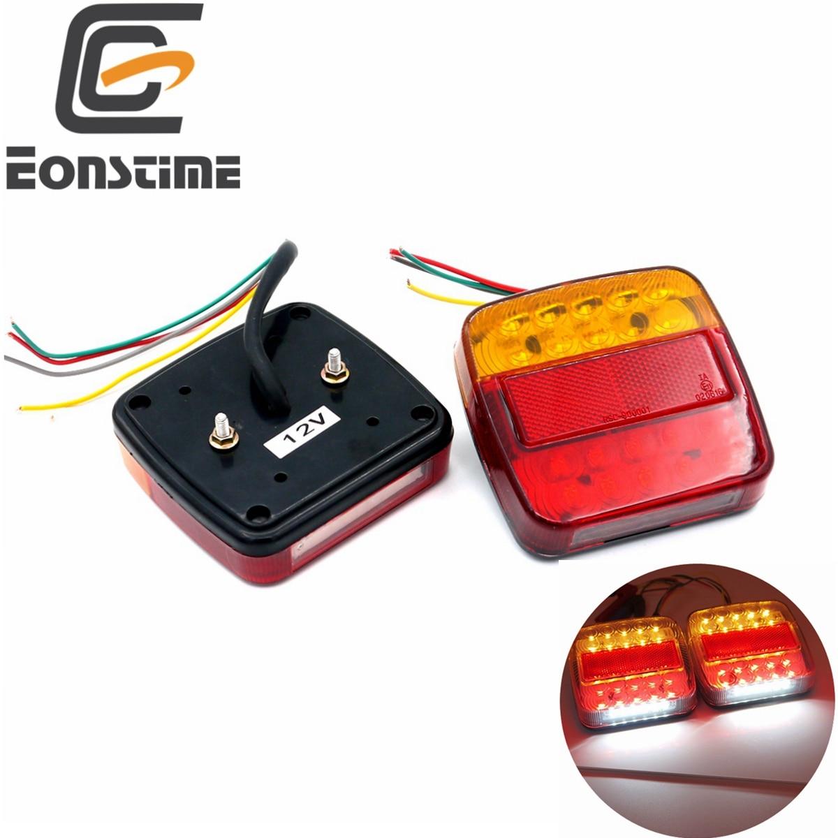 Eonstime Trailer Trucks Tail Light Car 26LED Rear Tail Light Running Turn Signal Rear Lamps Waterproof Tailight Parts 12V