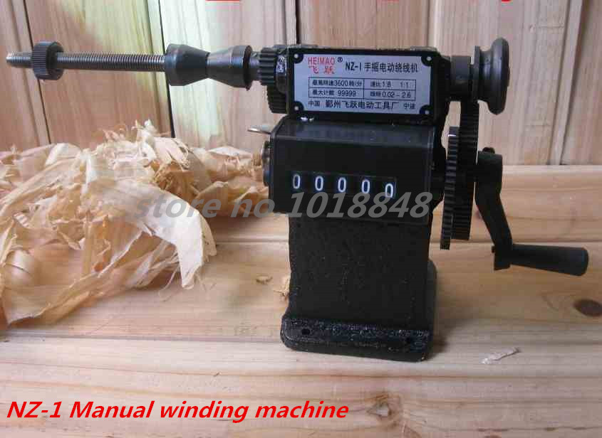 цена на NZ-1 Manual Winding Machine dual-purpose Hand Coil counting winding machine Winder Freeshipping by EXPRESS