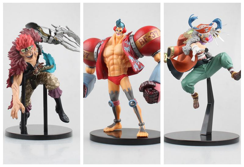 Huong Anime Figure 15-22CM One Piece 2 YEAR Franky Buggy Eustass Kid PVC Figure Collection Model Doll Toy GiftHuong Anime Figure 15-22CM One Piece 2 YEAR Franky Buggy Eustass Kid PVC Figure Collection Model Doll Toy Gift