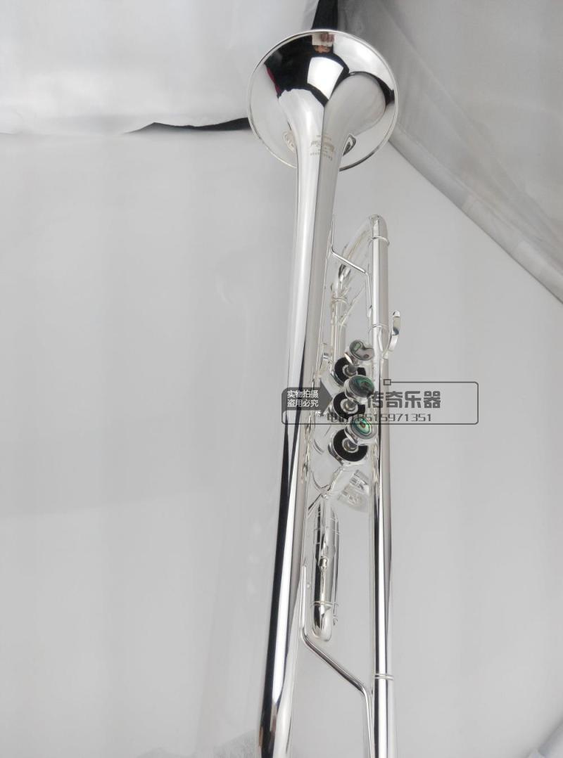 Senior Bach Silver Plated Bach Trumpet LT180S-43 Small Brass Musical Instrument Trompeta Professional High Grade.