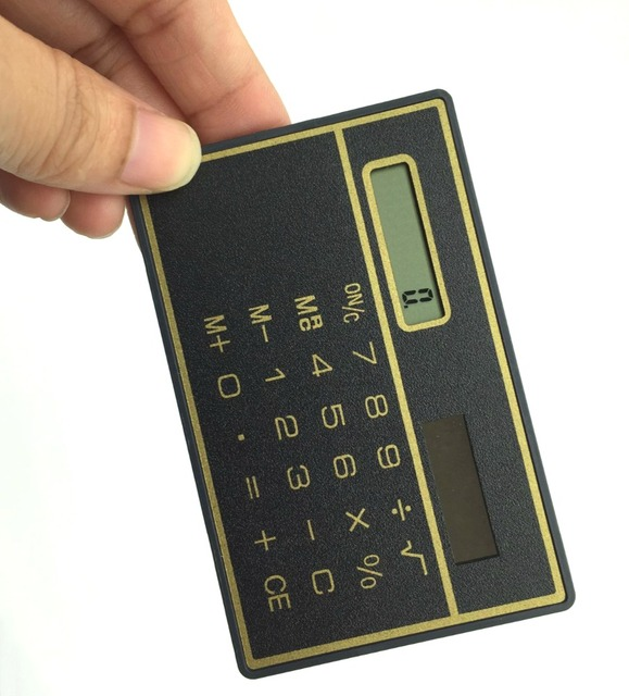 Slim Credit Card Cheap Solar Power Pocket Calculator Novelty Small