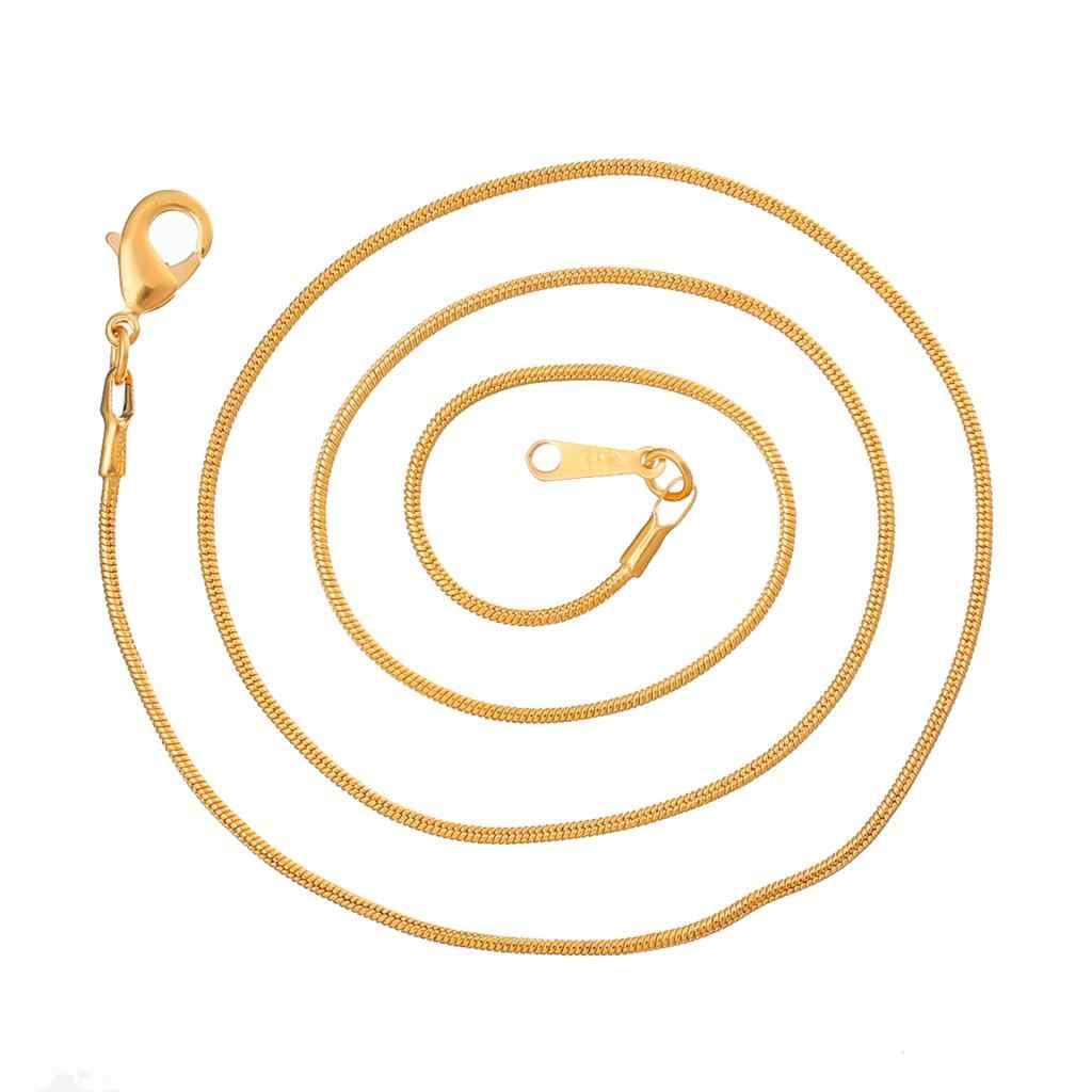 """DoreenBeads miedź + naszyjnik ze stopu złoty kolor Link łańcuchy 46.0cm (18 1/8 """") długi, 1 sztuka 2015 nowy"""