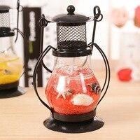 RT Aladdin S Light Candlestick Retro Lantern Metal Crafts Home Restaurant Romantic Candlelight Dinner Lamps Candle
