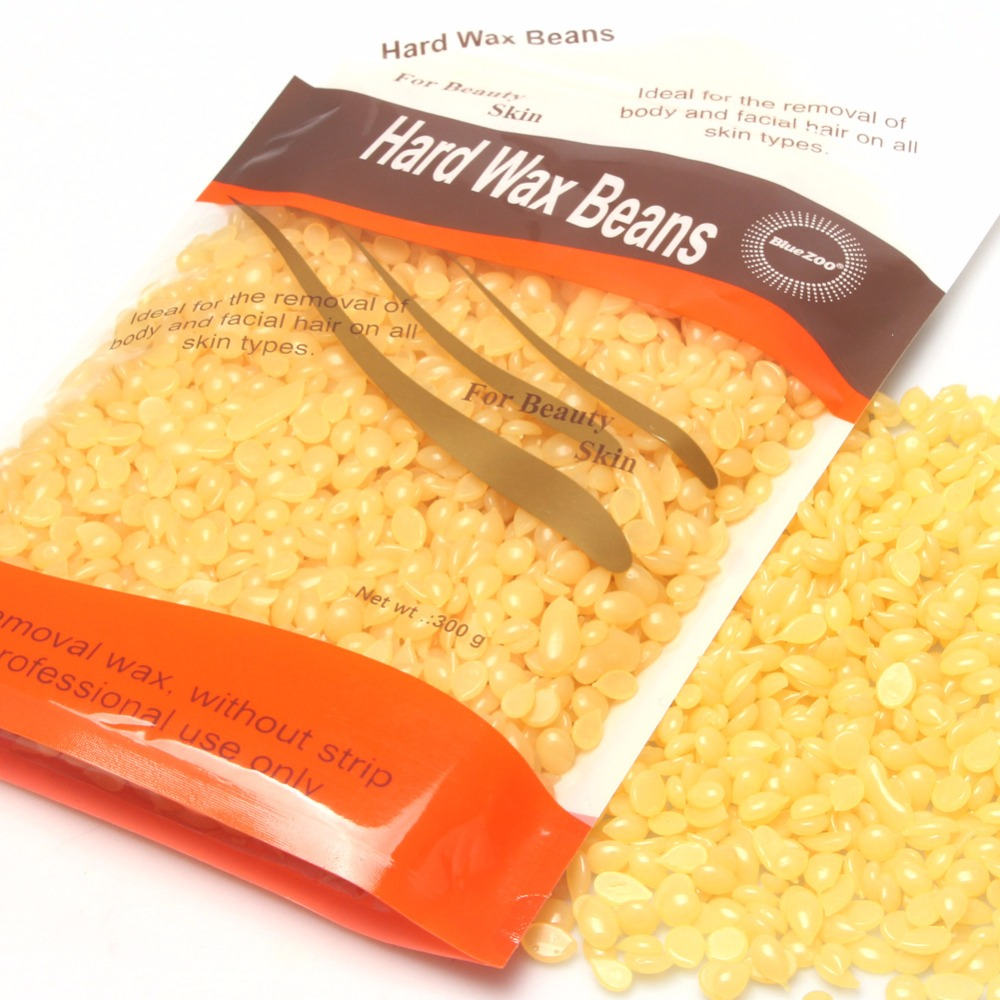 300g/Bag Pearl Wax Honey Flavor No Strip Depilatory Hot Film Hard Wax Pellet Waxing Bikini Hair Removal Beans For Beauty Skin 400g hard wax chamomile flavor hot film wax beans brazilian hair removal cream body waxing epilation for beauty
