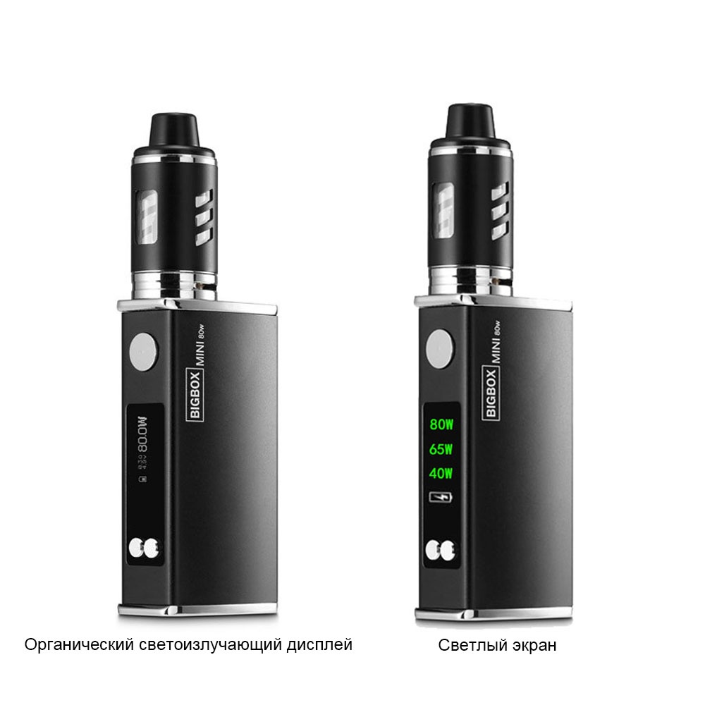 100% Original Big Smoke E Cigarette BIGBOX Vape Electronic Cigarette 80w Vape Mod OLED&Light 2 Types Display