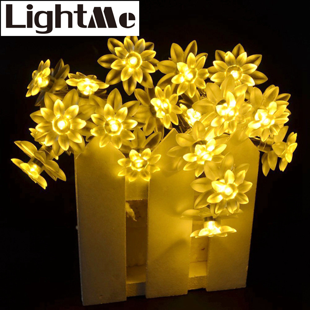 2016 Hot RGB LED Strip 4.8 50 Led Solar Powered Flexible Lotus Flower Light Tape For Christmas Party Decoartion Sculpture Lamps
