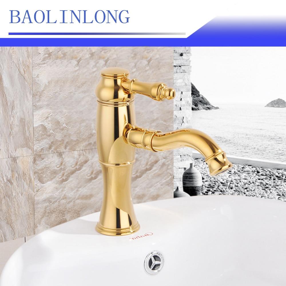 BAOLINLONG News Styling Deck Mount Brass Basin Bathroom Faucet Vanity Vessel Sinks Mixer Basin Faucets Tap