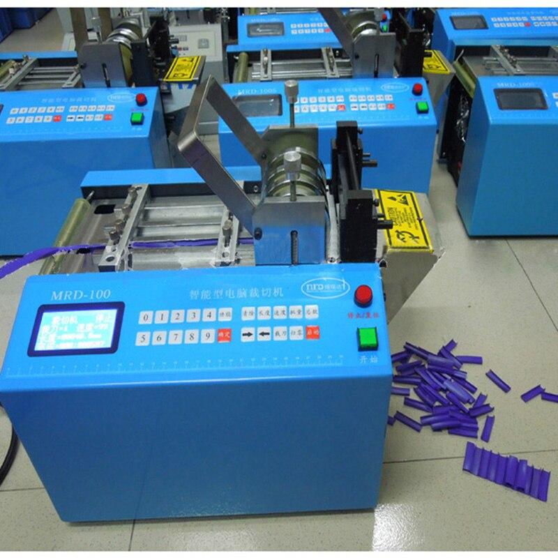 Máquina de corte automática tubo mangueira cabo máquina de corte calor psiquiatra cortador de tubulação sílica gel cortador de tubo 110 v/220 v MRD 100 - 3