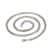 High Quality Length 50cm Stainless Steel Open Link Chain With Lobster Clasps Necklace Bracelet Chains Diy