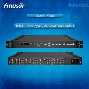 Спутниковый ресивер ftv4031a Quad FTA IRD 4 DVB-S радиочастотный вход ASI в ASI выход AV Out с декодированием демодуляции
