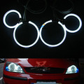4x CCFL kit Angel Eyes Para Ford mondeo 2002-2005 Auréola anel, kit angel eyes com 4 anéis ccfl + 2 ccfl inversor lastro