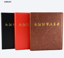 Free Shipping home decoration Leather Coin Album paper money album 45 sheets loose leaves Coin Collection Books for coins(China)