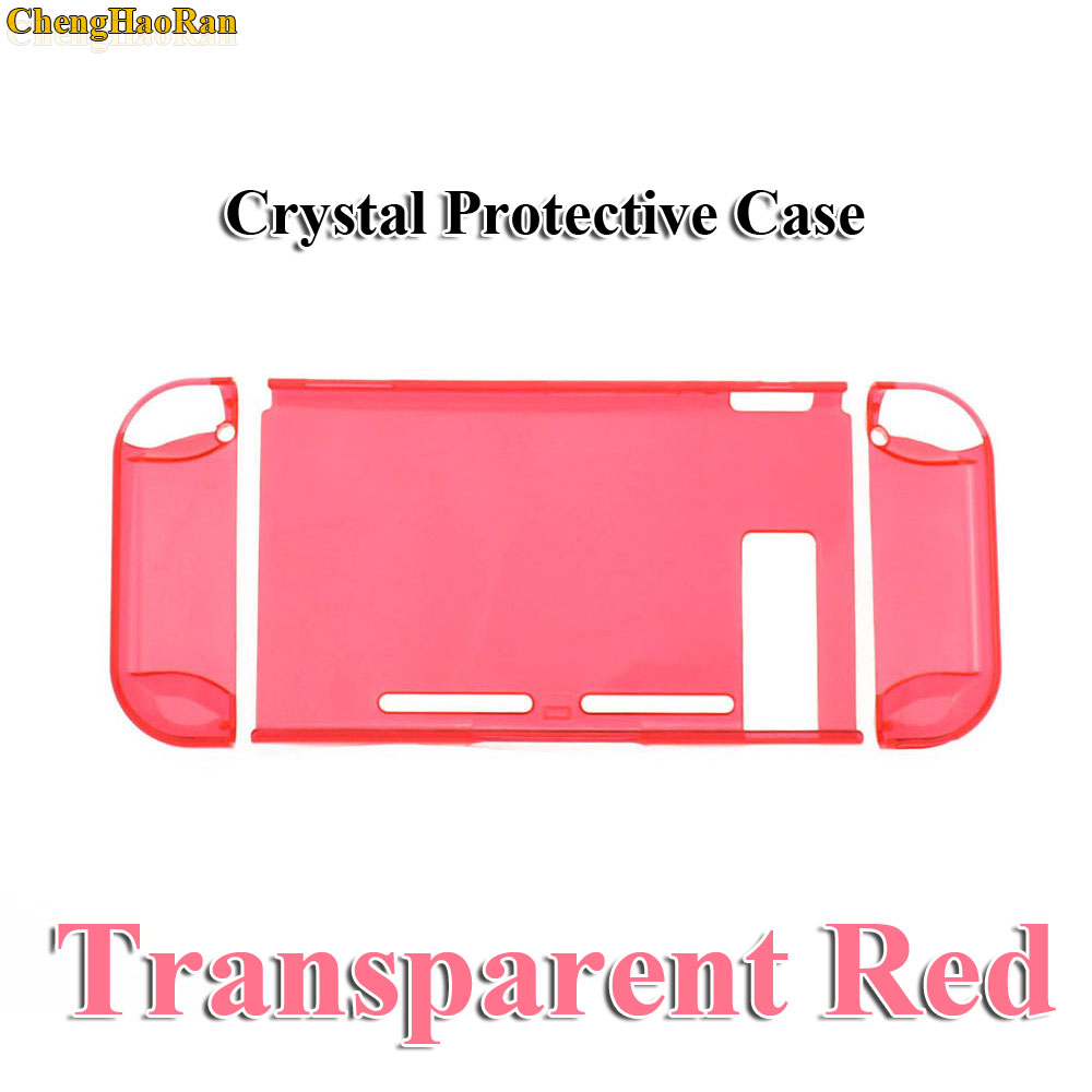 Image 3 - Hard PC Protection Cover For Nintend Switch NS NX Case Transparent Crystal Shell Console Controller Accessories With Stand Cases-in Replacement Parts & Accessories from Consumer Electronics