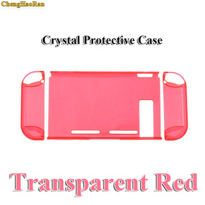 Image 3 - Hard PC Protection Cover For Nintend Switch NS NX Case Transparent Crystal Shell Console Controller Accessories With Stand Cases