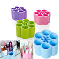 12 Holes Plastic Wintersweet Shape Lipstick Brush Desktop Display Holder Stationery Makeup Cosmetic Organizer Storage Case Tool