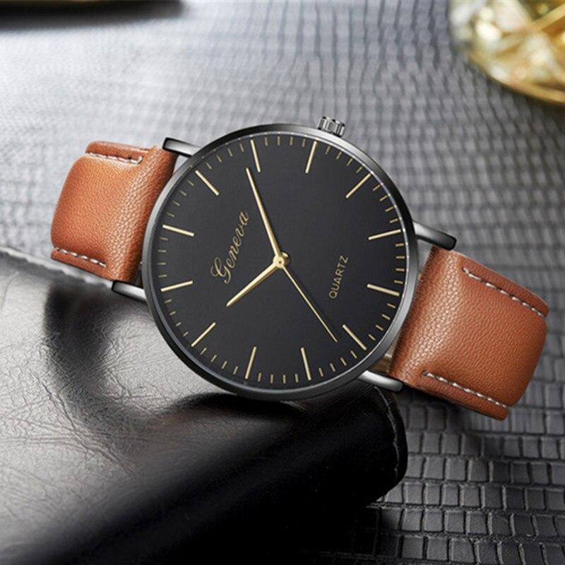 Man Watch 2019 Ultra Thin Men Watches Top Brand Luxury Fashion Casual Quartz Wristwatch Geneva Watch Men Hour Relogio Masculino