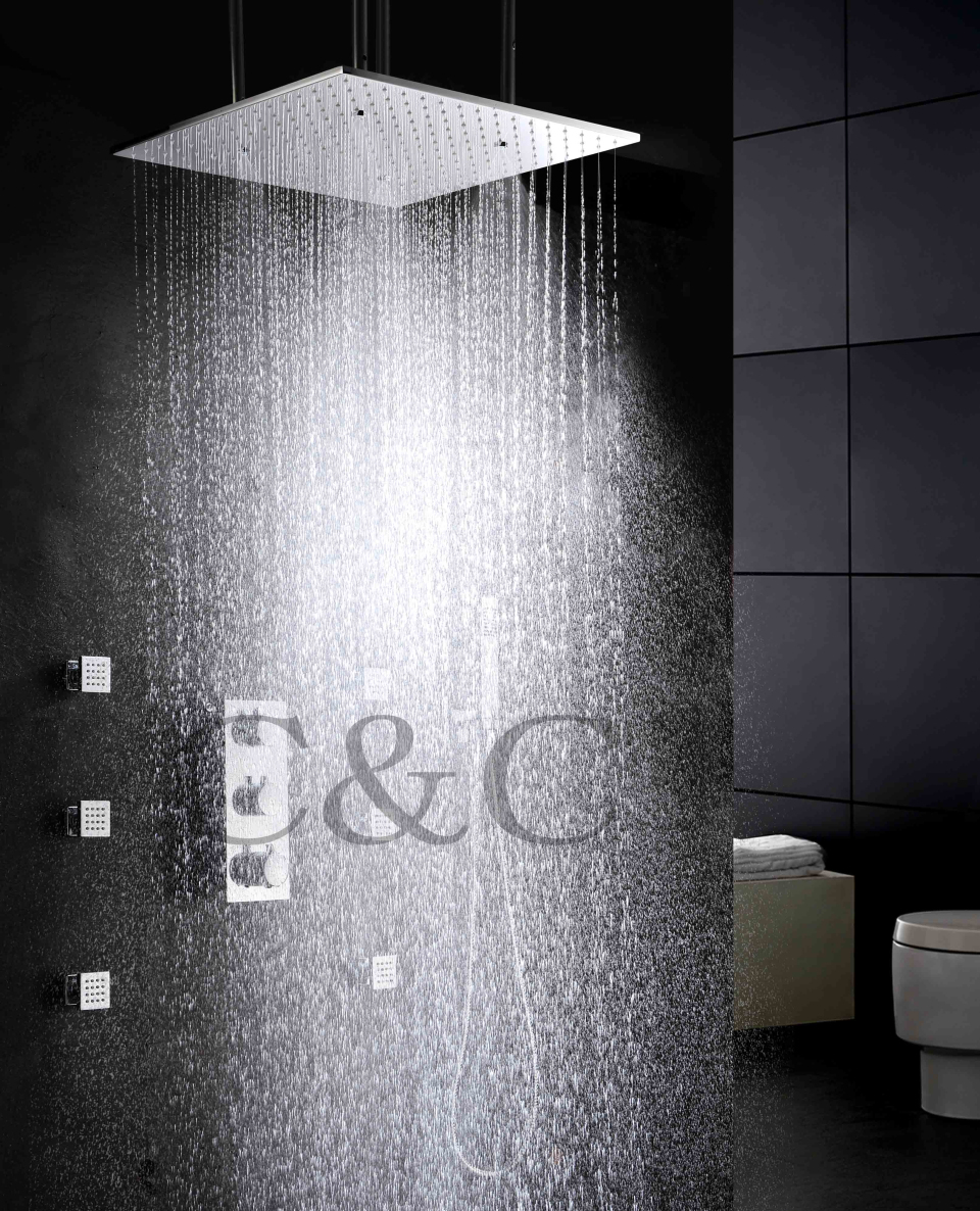 Atomizing And Rainfall Water Function 20 Inch Bath Shower Head ...
