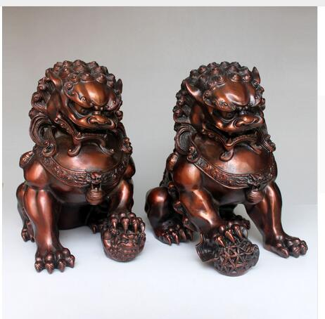 Copper Brass Exquisite Home Decoration High Quality 2pcs/lot Chinese red BRASS Copper Lion crafts StatueCopper Brass Exquisite Home Decoration High Quality 2pcs/lot Chinese red BRASS Copper Lion crafts Statue