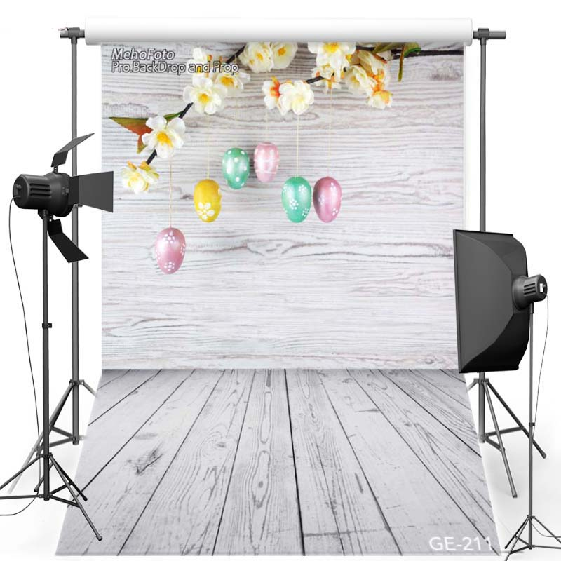Happy Easter Egg Vinyl Photography Background For Children Wooden Floor New Material Flannel Backdrop For photo studio Props 211 pink floor vinyl photography background for newborn party oxford backdrop for children photo studio props 2868