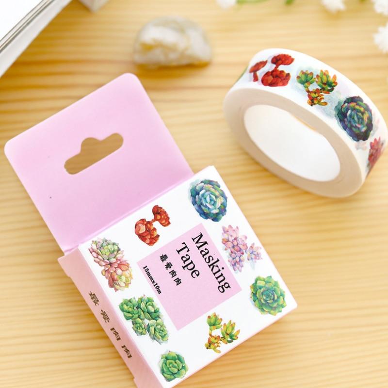1.5cm*10m Favorite Succulent washi tape DIY decoration scrapbooking masking tape adhesive tape kawaii stationery