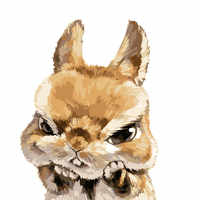 Bunny lovely Gift for chil Child DIY Digital Painting By Numbers Modern Wall Art Canvas Painting Unique Gift Home Decor 40x50cm