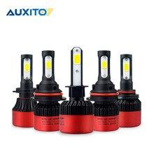 AUXITO H11 H8 H7 H4 9005 9006 HB4 автомобиля светодиодный фар Hi-Lo луча 12 В УДАРА авто туман лампочки 6500 К белый светодиодный светильник 16000LM