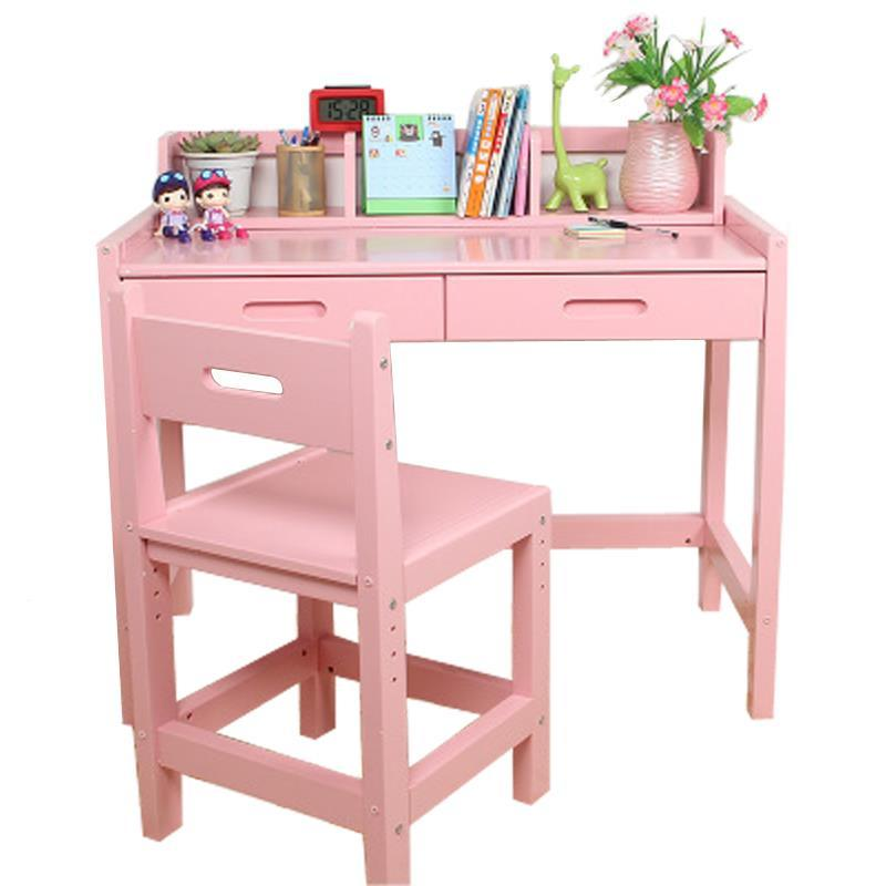 Wooden children's study student learning tables and chairs set combination desk learning desks and chairs set wooden children s child students homework desk