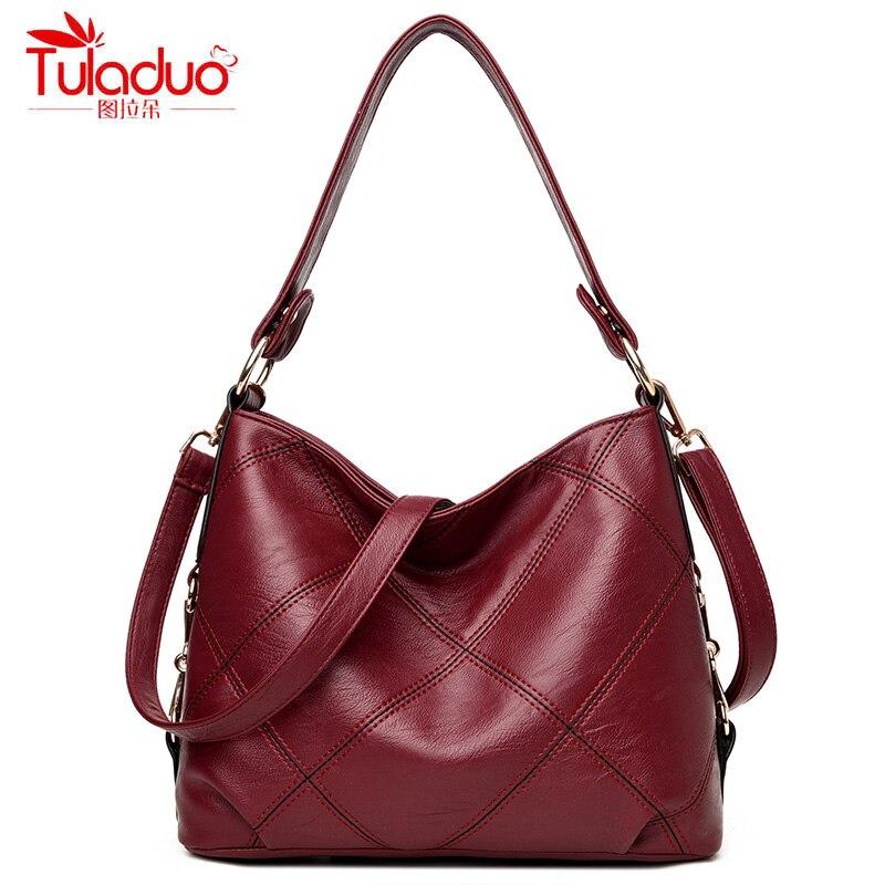 Fashion Patchwork Women Shoulder Bags Large Capacity Women Messenger Bags High Quality PU Leather Women Crossbody Bucket Bags