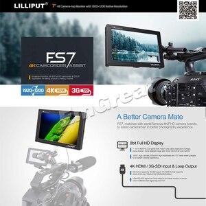 Image 2 - Lilliput Monitor de campo de vídeo para cámara, 7 pulgadas, Full HD, 1920x1200, 4K, HDMI, 3G SDI, entrada/salida con batería, para Sony PXW FS7, EVA1, cardán