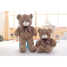120CM/140CM Kawaii High-quality Curly Bears Teddy Bears Plushs Toys For Valentine's Day Gift(China)