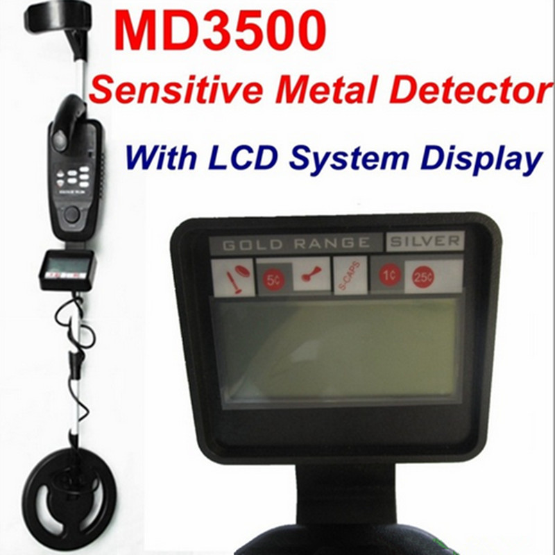 New Arrival MD-3500 Underground Metal Detector MD3500 Gold Digger Treasure Hunter Sensitive Metal Detector with LCD Display high quality underground highly sensitive metal detector md3010ii for gold hunter