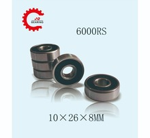 купить JQ Bearings 10PCS 6000 6000rs 6000RS 6000-2RS Ball Bearing 10*26*8 mm Deep Groove Ball bearing Free Shipping по цене 560.13 рублей