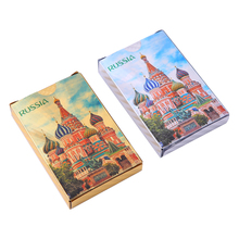 Plastic Playing Cards 36pcs Russia Waterproof Creative Poker Durable Gift Card  Game 2 Packs