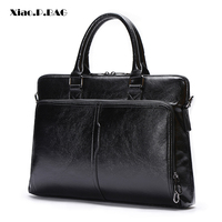 Brand Men's Business Black Classic Bag pu Leather Briefcase Men's Tote Bags Fashion Good quality male Business Laptop Bag