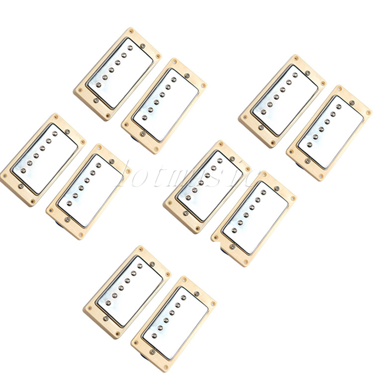 5 Sets New Double Coil Humbucker Pickup Set For Electric Guitar Replacement single coil pickup cover 1 volume 2 tone knobs switch tip for strat guitar replacement ivory 10 set
