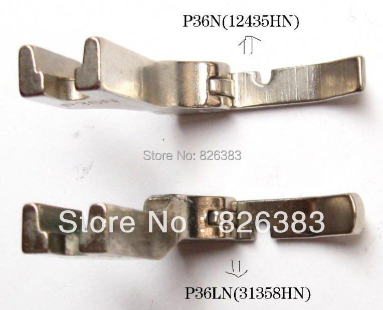 2 PCS Hinged Cording Presser Feet Foot for JUKI DDL-5550, 8300 ,8700, 555 ,227,NO.P36N/P36LN